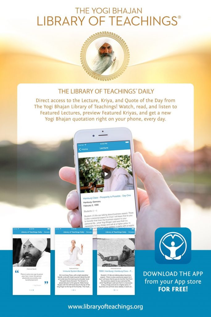 The Yogi Bhajan Library of Teachings Daily App