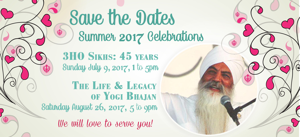 Join us for the Yogi Bhajan Birthday Party!