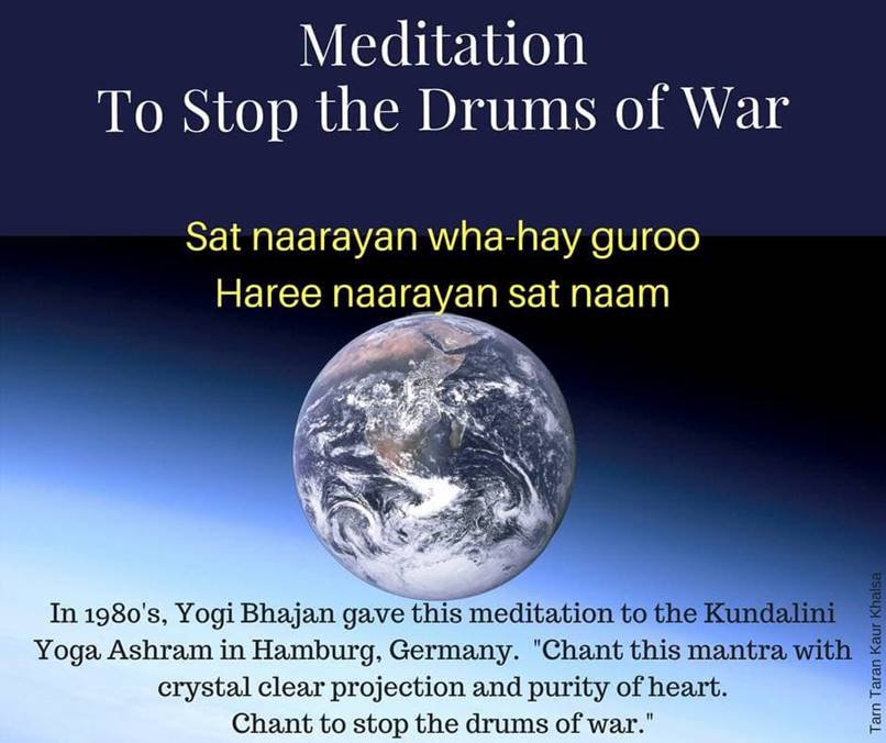 Stop the drums of war